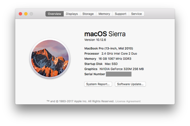 Current Mac Specs