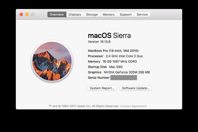Current Mac Specs