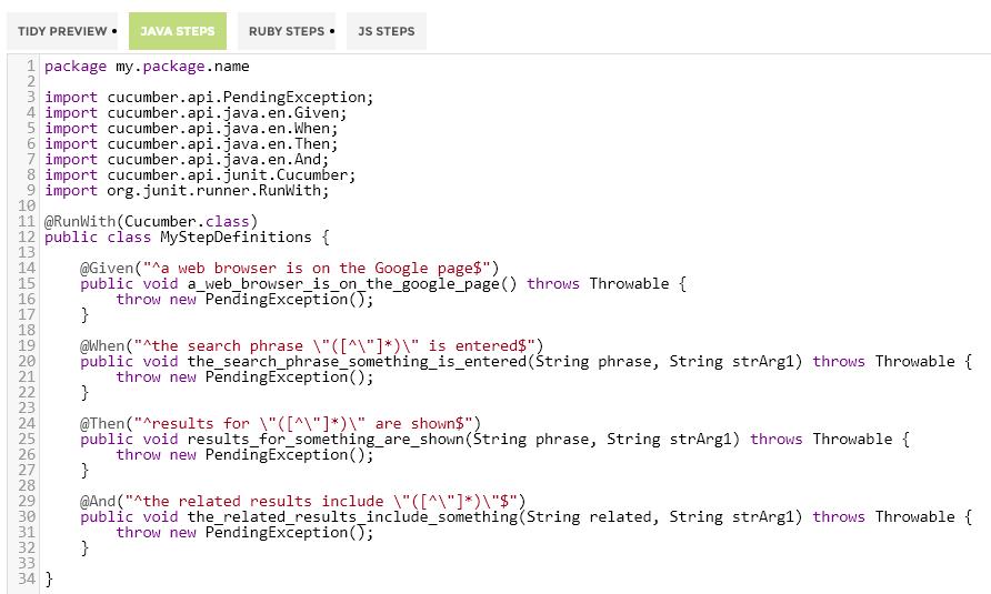 Tidy Gherkin – Java Steps | Automation Panda
