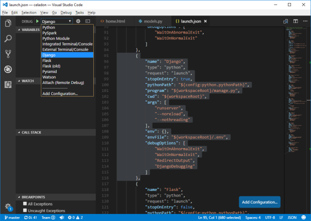 VS Code Django Debugging
