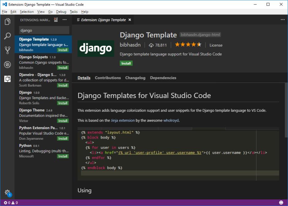VS Code Django Template Ext | Automation Panda