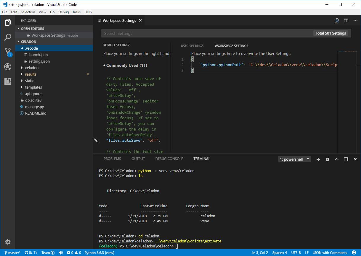 VS Code Python Venv