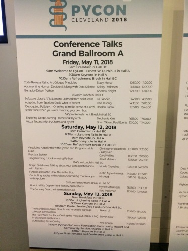 The talks in Grand Ballroom A. Mine was Friday at 12:10pm!