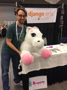 The Django Pony at the Django Girls table!