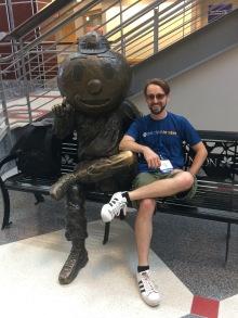 I met Brutus Buckeye!