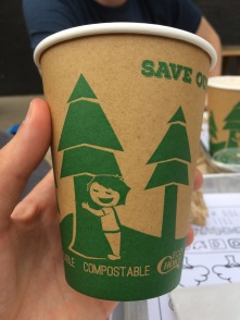Tree-hugger vegan cups