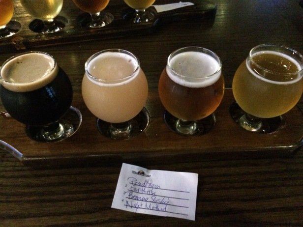 Celebration beer flight for a successful PyOhio 2018!